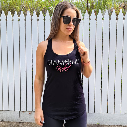 Diamond Kicks Racerback Singlet (Black)