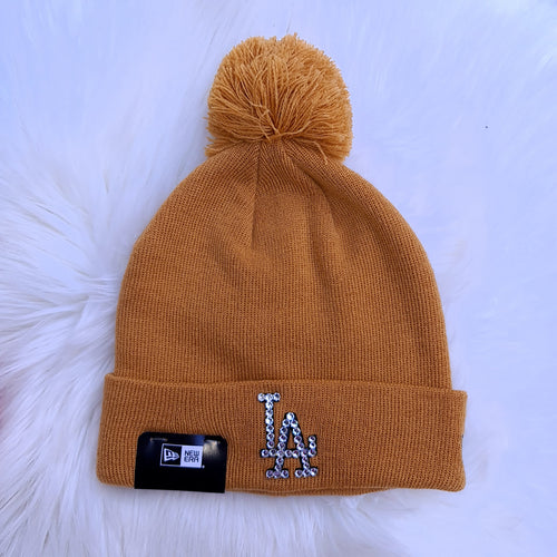 New Era Pom Pom Beanie (Wheat)
