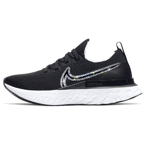 Nike Women React Infinity Run Flyknit (Black/ White)