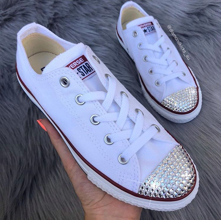 Details about Converse All Star Chuck Taylor White Monochrome with SWAROVSKI® Crystals.