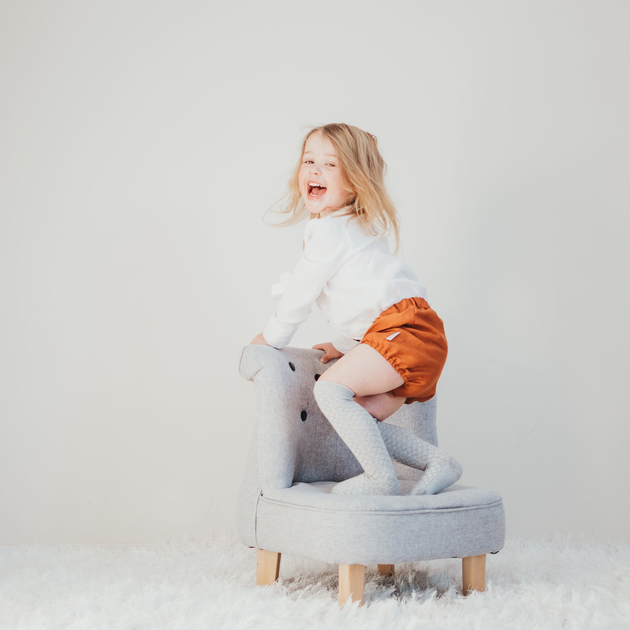 Rust Linen Bloomers