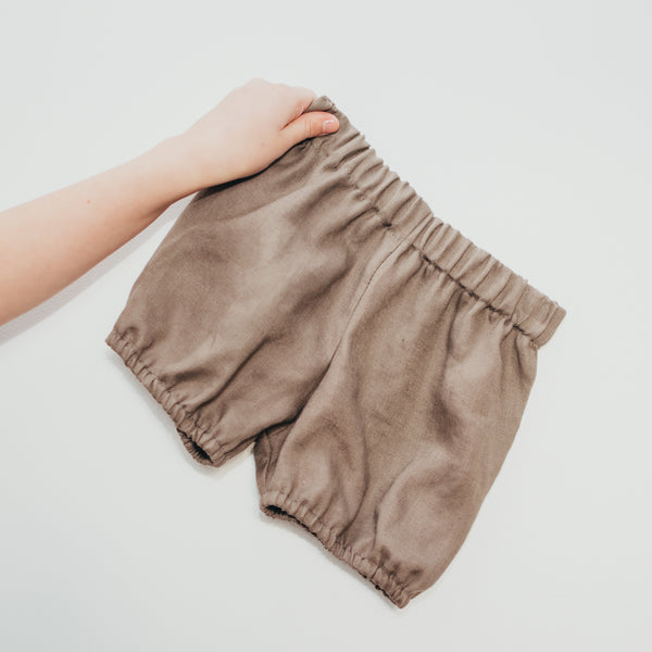 Pewter Linen Bloomers - Sizes 3-6m, 6-12m, 1, 2, 3 & 4