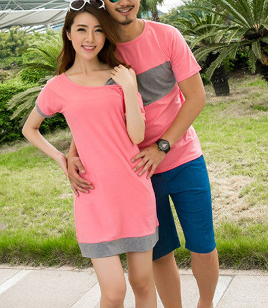 Couple's Pink Striper Set