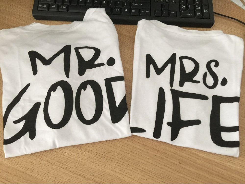 Mr. Good Mrs. Life Couple T-shirt