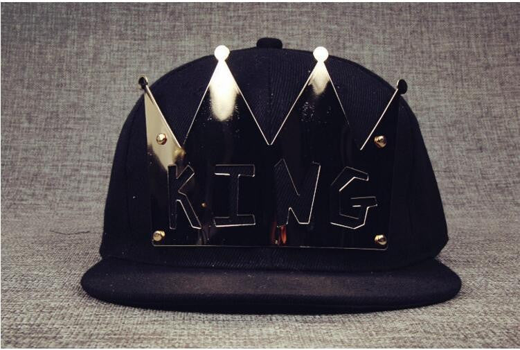 King & Queen Snapback Hat Separate