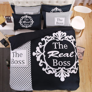 The Boss & The Real Boss Couple Bedding Set