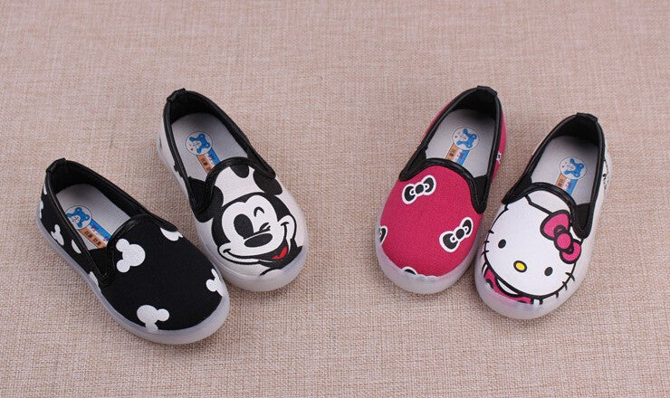 Low Top Mickey or Hello Kitty Shoes