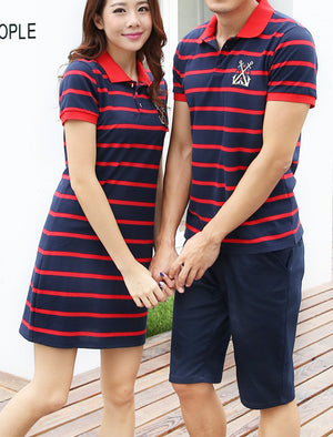 Couple's Red Stripe Set