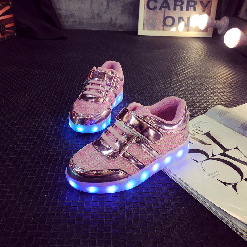 Casual Girl/Boy LED Children Shoes