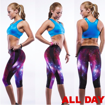 Womens Capri Galaxy Leggings