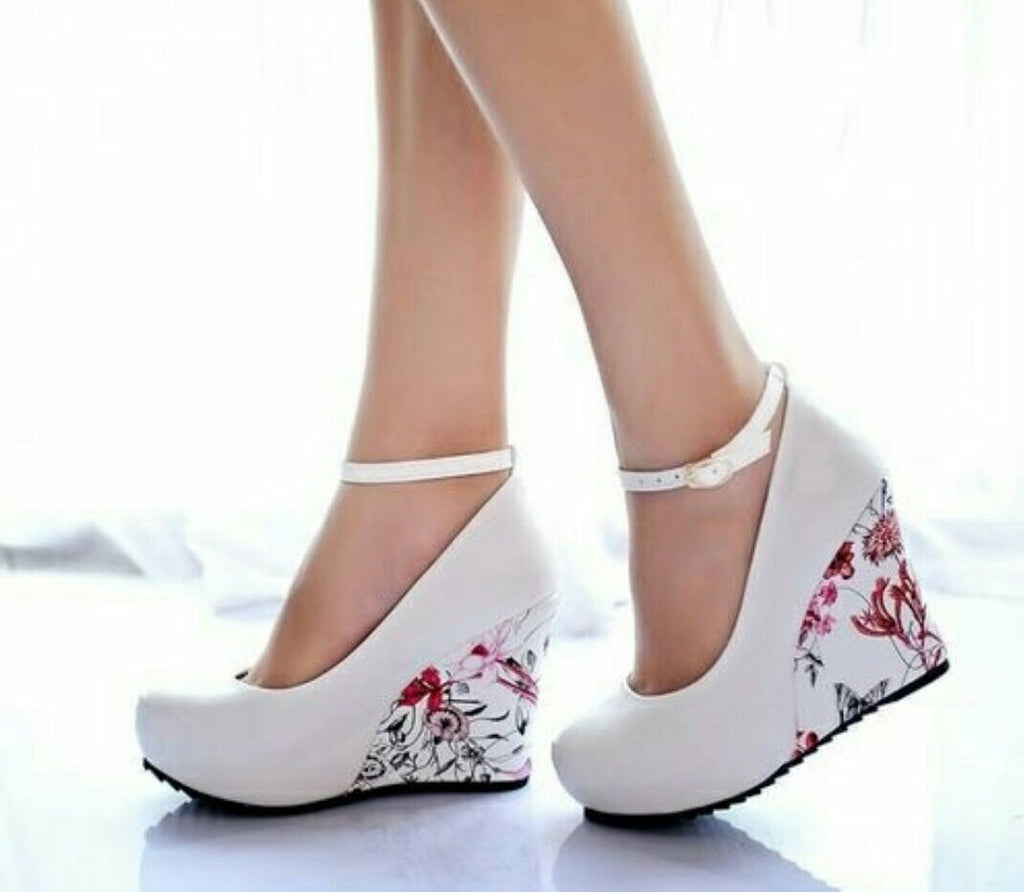 Ankle Strap High Wedge Platform