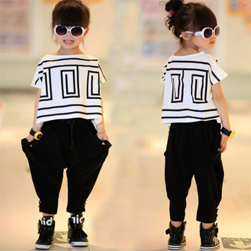 Stylish T Shirt + Pants 2pcs Set