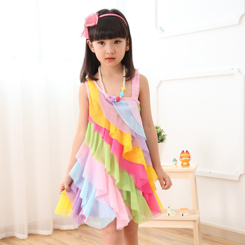 Candy Rainbow Beach Princess Dress