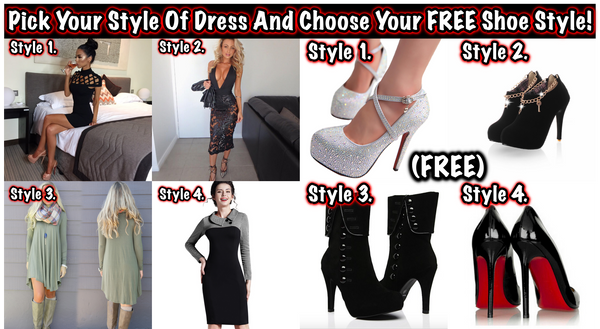 "FREE Shoes With Dress ""Limited Time Offer"""
