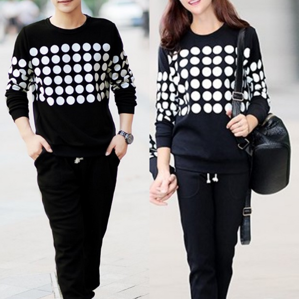 Couple Matching Polka Dots Sweater Set