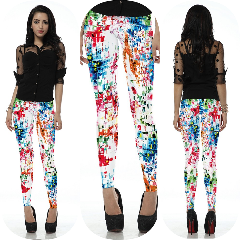 Colorful Graffiti Leggings