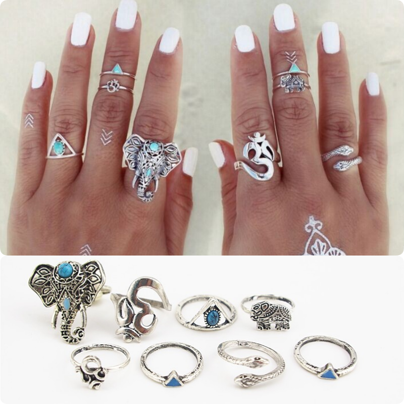 8pc Set Vintage Rings