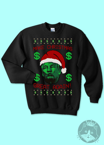 politics donald trump make christmas great again ugly christmas sweater kippcreations