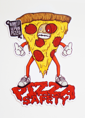 The Eric Andre Show - The Eric Andre Show - Pizza Safety - Stickers - KippCreations