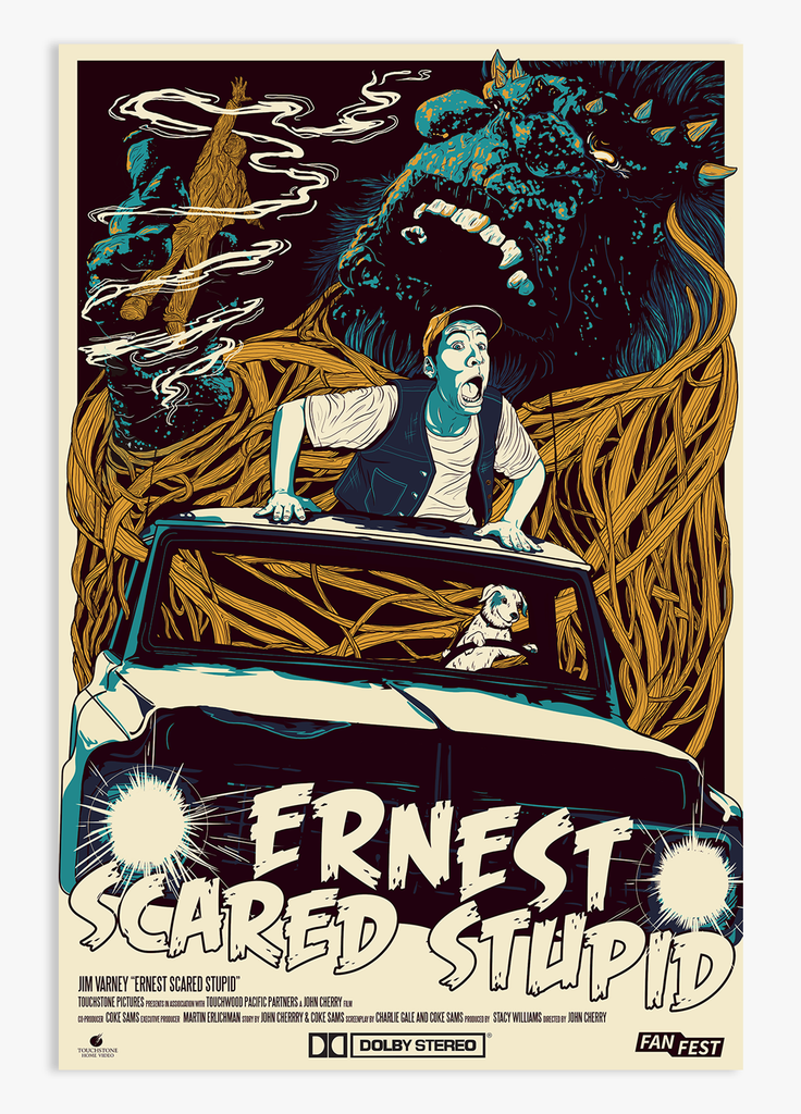 Kipp - Ernest Scared Stupid - Limited Edition Poster - 24x36 - KippCreations