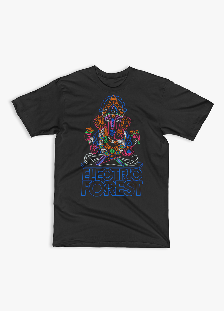 Electric Forest - Electric Forest 2017 - Neon Elephant - Unisex T-Shirt - KippCreations