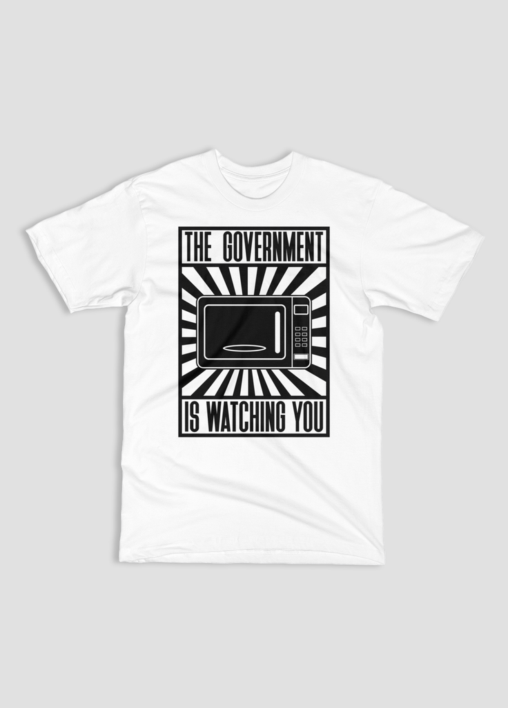 Politics - Your Microwave Is Watching You - Propaganda Style - Unisex T-Shirt - KippCreations