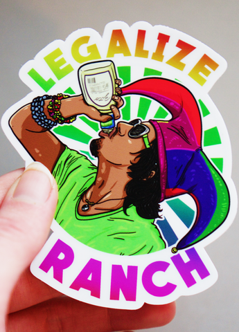 The Eric Andre Show - The Eric Andre Show - Legalize Ranch - Stickers - KippCreations