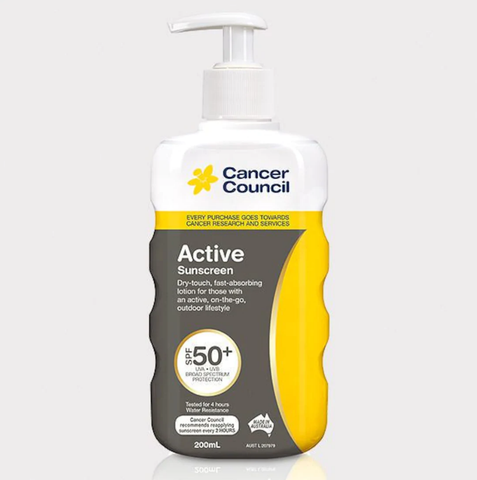 Active 無油清爽防曬 - Cancer Council Active Dry Touch Sunscreen 200ml