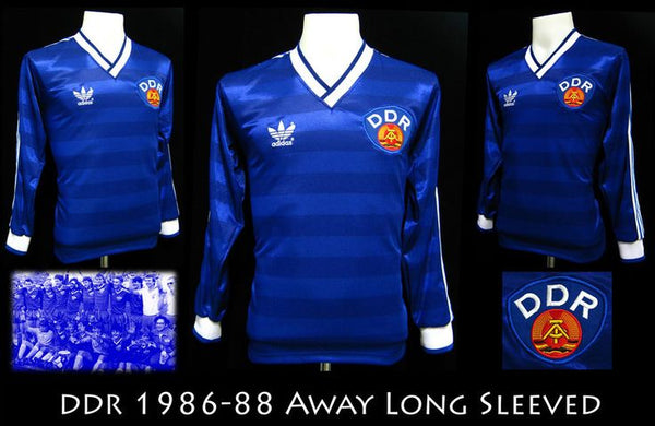 bfbb727479b The blue away shirt of East Germany was a cool shirt, a nice simple design  for one of the more interesting footballing nations of Europe.