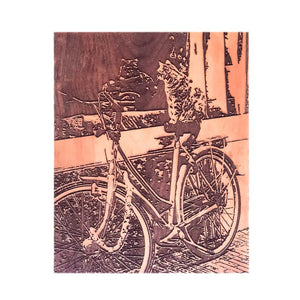 Laser-Cut Photo - Cat on a Bike - Andalog