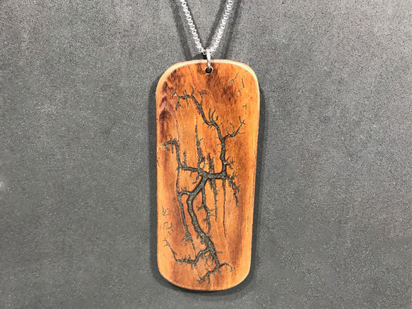 Electrocuted Cherry Pendant with Meteorite Inlay - Andalog