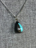 Ebony Pendant with Meteorite & Turquoise Inlay