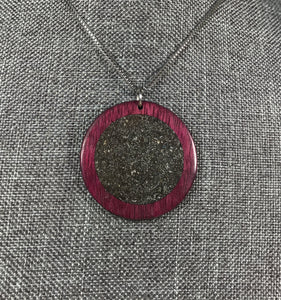 Purpleheart with Meteorite Pendant