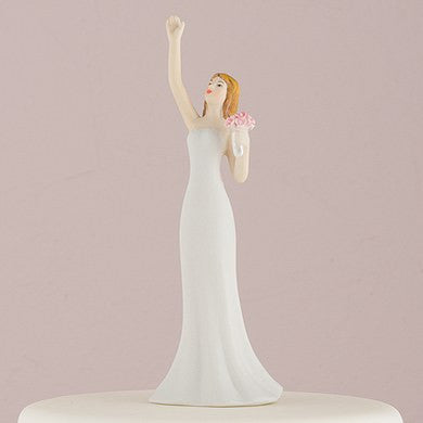 Bride Reaching Wedding Cake Topper - Southern Cross Beauty