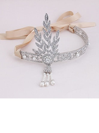 Ladies Great Gatsby Inspired Alloy Headband - Southern Cross Beauty