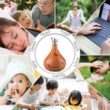 Essential Oil Aroma Diffuser Tulip Light Wood Colour Ultrasonic Mist Humidifier