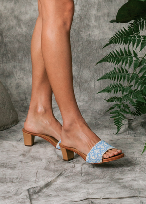 Load image into Gallery viewer, Periwinkle Nonya Heeled Sandal (Pre-order)
