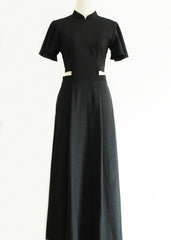 Signature Cut Out Maxi Dress - Black