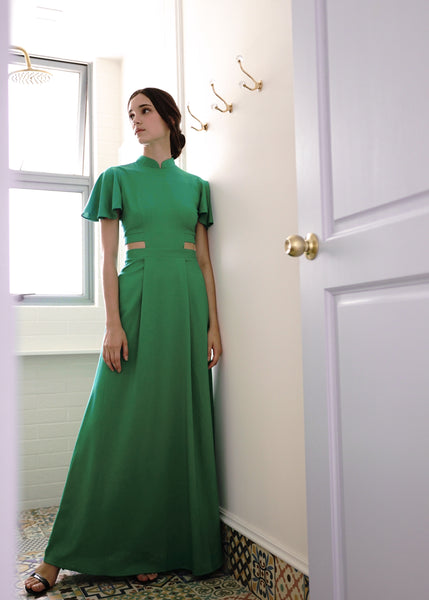 Signature Cut Out Maxi Dress - Emerald