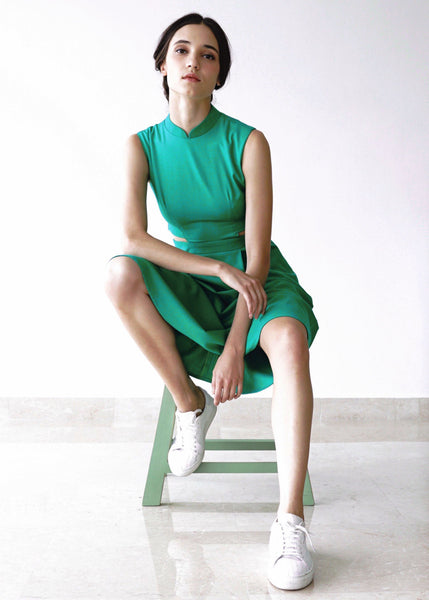 Signature Sleeveless Midi Dress - Emerald