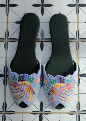Load image into Gallery viewer, Flight of Fancy Beaded Peeptoe (Pre-order)