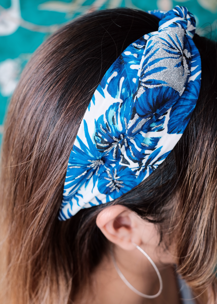 Load image into Gallery viewer, Blue Ferns Headband