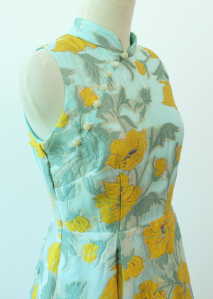Load image into Gallery viewer, Hummingbird Brocade Organza Cheongsam