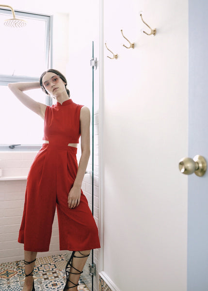 Signature Jumpsuit - Red (Pre-order)