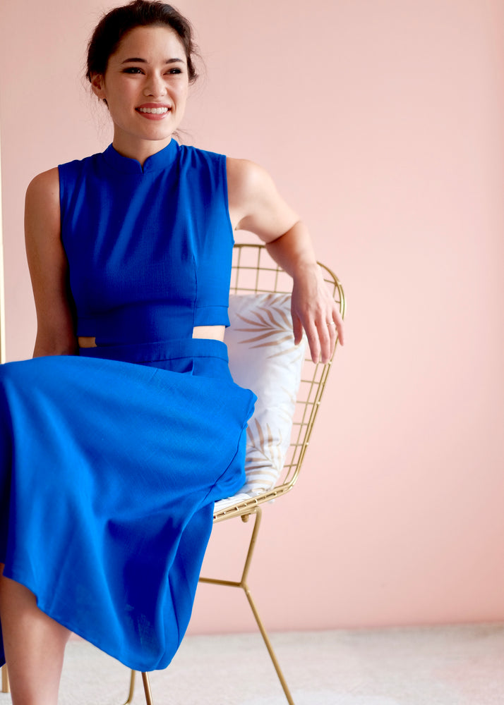 Load image into Gallery viewer, Signature Sleeveless Midi Dress - Cobalt