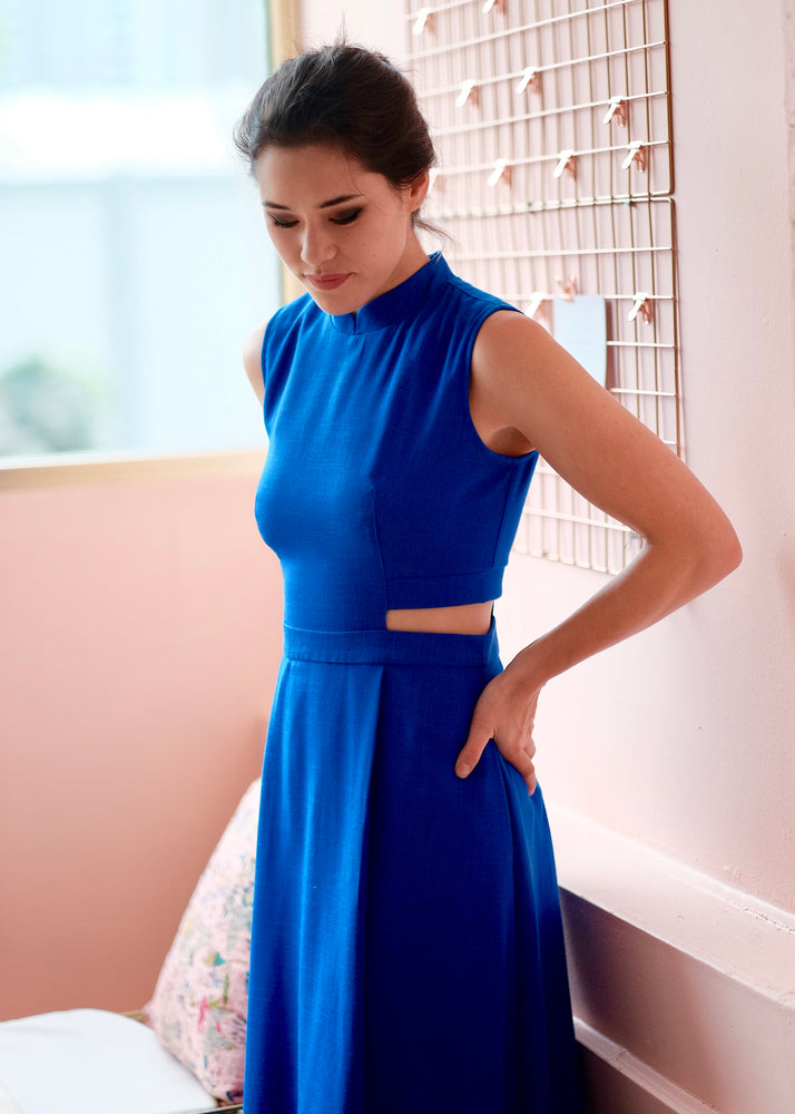 Signature Sleeveless Midi Dress - Cobalt