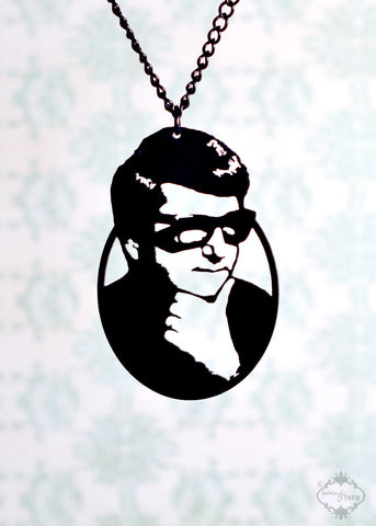 Roy Orbison Tribute Necklace in black stainless steel