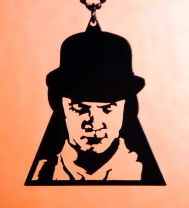 Clockwork Orange Alex DeLarge inspired Pin in black stainless steel
