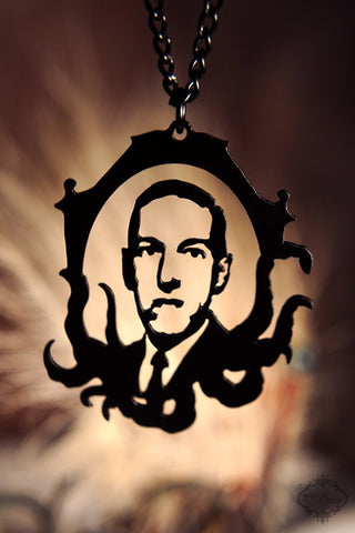 H.P. Lovecraft Cthulhu homage Necklace in black stainless steel
