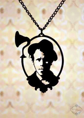 Tom Waits Tribute Necklace in black stainless steel